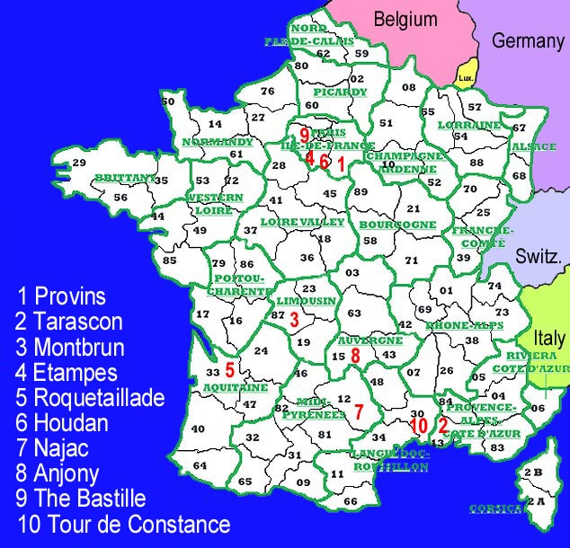 France Locator Map - France provinces map