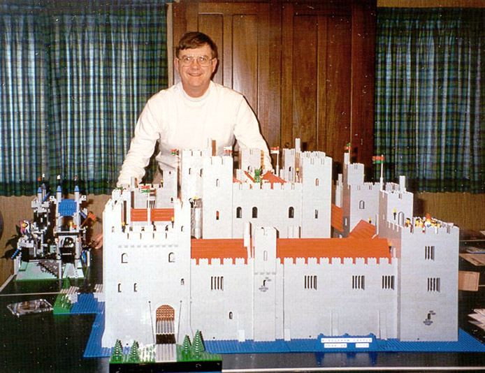 Robert Carney with his Middleham castle model in 1995.